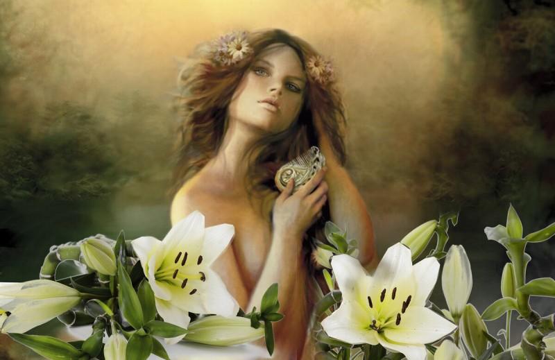 Русалка на ветвях сидит… и пахнет лилией от Маля. Lys Mediterranee