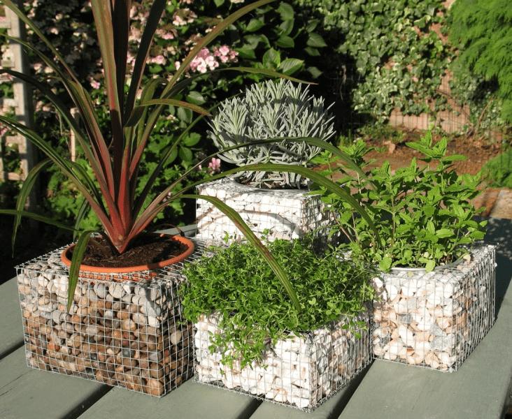 Габионы - находка для ландшафтного дизайна на садовом участке