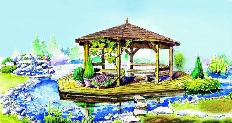 2 идеи как беседку на загородном участке превратить в оазис тихого и уютного отдыха