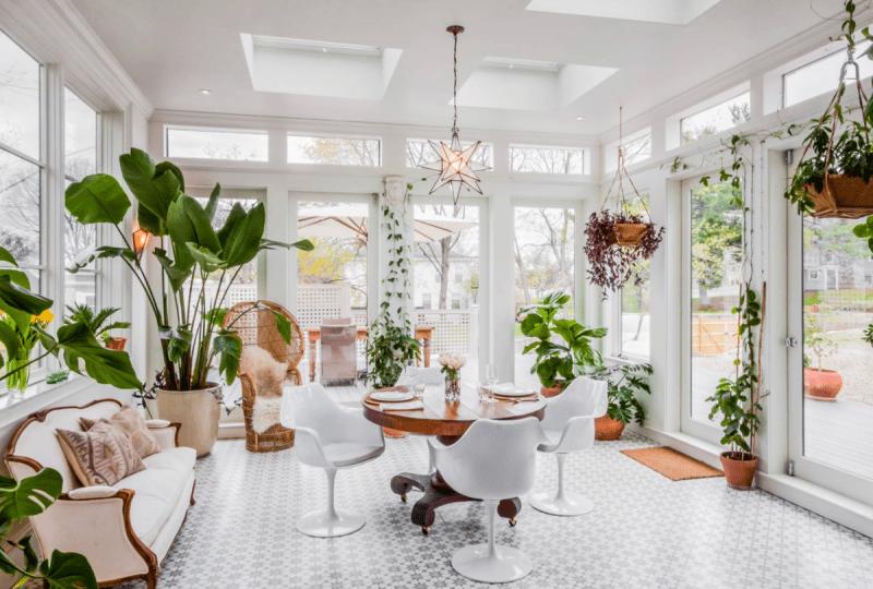Оформление зимнего сада в частном доме
