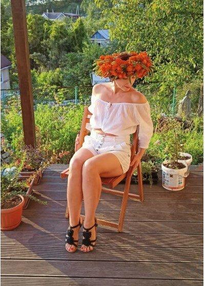 Венок из бархатцев: чудо осеннего сада